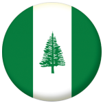 Norfolk Island Flag 25mm Pin Button Badge